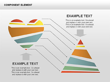 Component Elements Charts and Diagrams, Slide 6, 00411, Shapes — PoweredTemplate.com