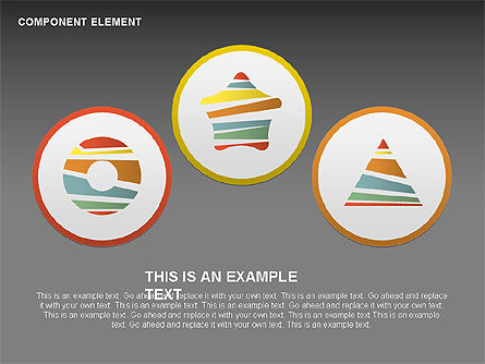 Component Elements Charts and Diagrams, Slide 7, 00411, Shapes — PoweredTemplate.com