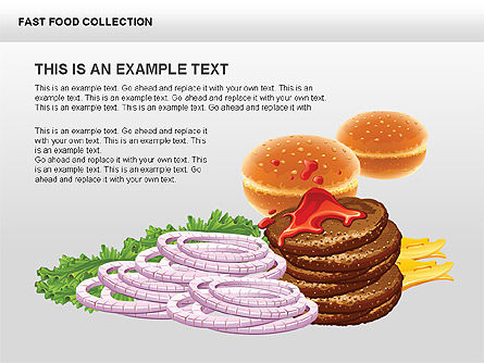 Process Diagrams: Fast Food Shapes and Charts #00413