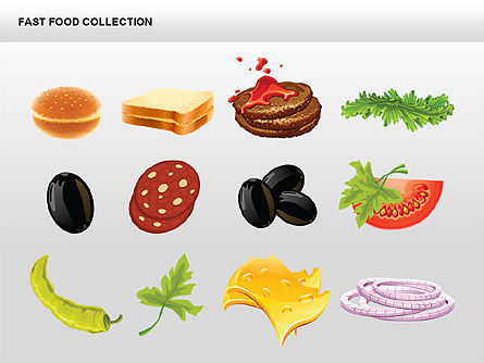 Fast Food Shapes and Charts Slide 15