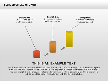3D Charts Collection, Slide 3, 00414, Stage Diagrams — PoweredTemplate.com