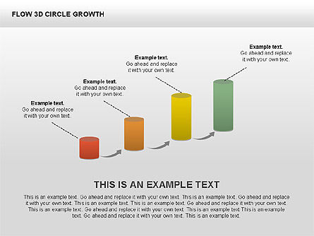 3D Charts Collection, Slide 4, 00414, Stage Diagrams — PoweredTemplate.com
