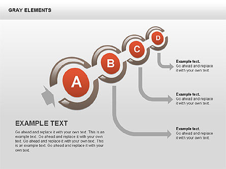 Shapes and Charts, Slide 12, 00415, Process Diagrams — PoweredTemplate.com