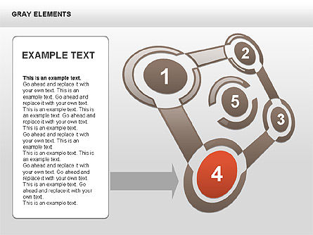 Shapes and Charts, Slide 8, 00415, Process Diagrams — PoweredTemplate.com