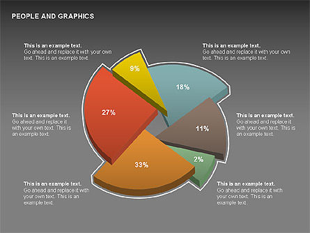 People Charts, Slide 13, 00422, Pie Charts — PoweredTemplate.com