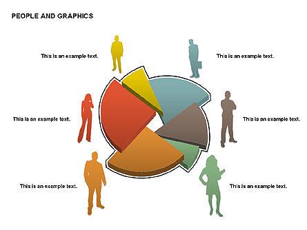 People Charts, Slide 14, 00422, Pie Charts — PoweredTemplate.com