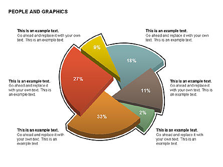 People Charts, Slide 9, 00422, Pie Charts — PoweredTemplate.com