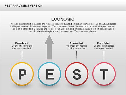 PEST Analysis Donut Diagram, Slide 10, 00424, Business Models — PoweredTemplate.com