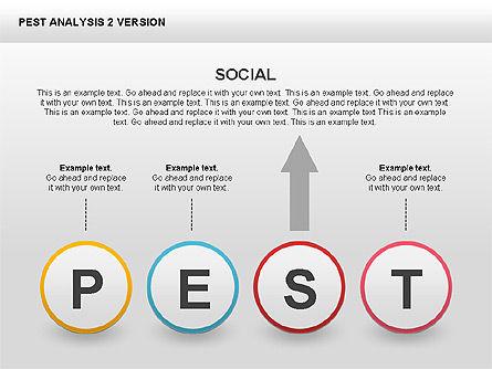 PEST Analysis Donut Diagram, Slide 11, 00424, Business Models — PoweredTemplate.com