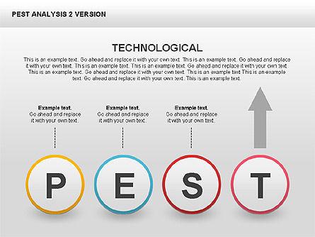 PEST Analysis Donut Diagram, Slide 12, 00424, Business Models — PoweredTemplate.com