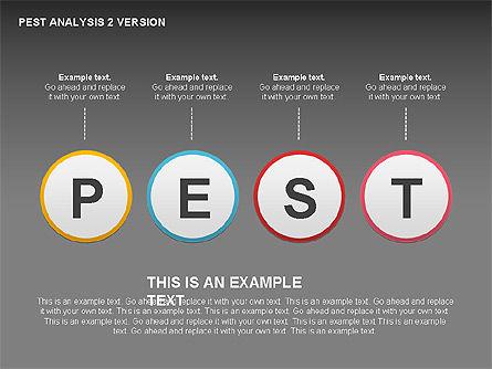 PEST Analysis Donut Diagram, Slide 14, 00424, Business Models — PoweredTemplate.com