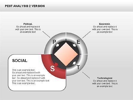 PEST Analysis Donut Diagram, Slide 4, 00424, Business Models — PoweredTemplate.com