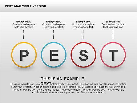 PEST Analysis Donut Diagram, Slide 8, 00424, Business Models — PoweredTemplate.com