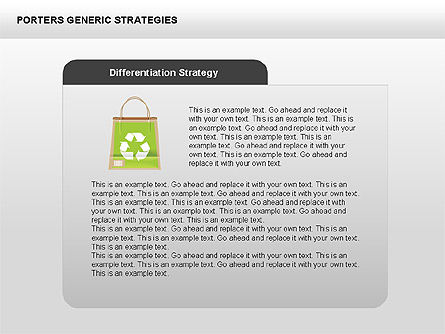 Porter's Generic Strategies Diagram, Slide 4, 00426, Business Models — PoweredTemplate.com