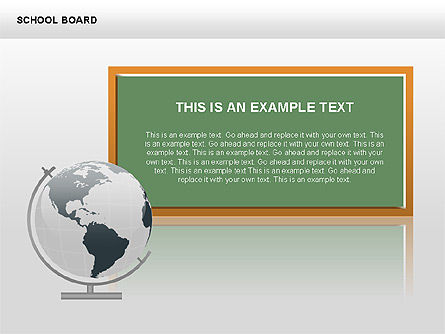 School Board with Globe Diagrams, 00428, Education Charts and Diagrams — PoweredTemplate.com