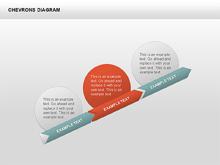 3D Chevron Diagram, Slide 2, 00430, Stage Diagrams — PoweredTemplate.com