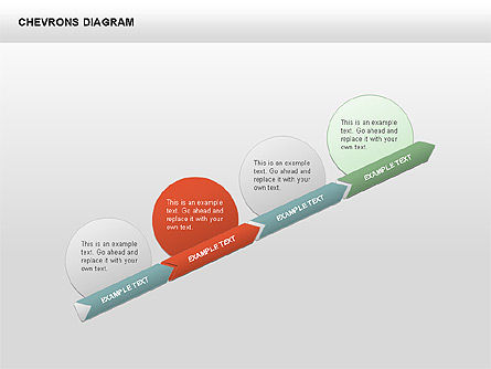 3D Chevron Diagram, Slide 3, 00430, Stage Diagrams — PoweredTemplate.com