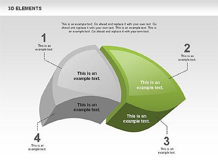 3D Elements, Slide 4, 00431, Shapes — PoweredTemplate.com