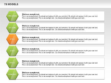7S Model Diamond Diagram, Slide 10, 00433, Business Models — PoweredTemplate.com