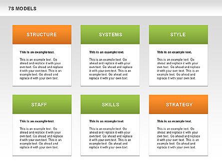 7S Model Diamond Diagram, Slide 12, 00433, Business Models — PoweredTemplate.com
