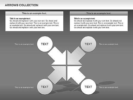 Opposite Arrows Shapes, Slide 14, 00435, Shapes — PoweredTemplate.com