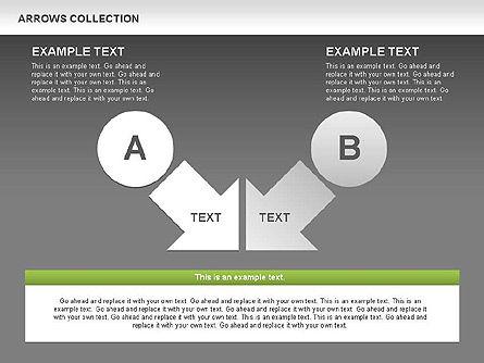 Opposite Arrows Shapes, Slide 15, 00435, Shapes — PoweredTemplate.com