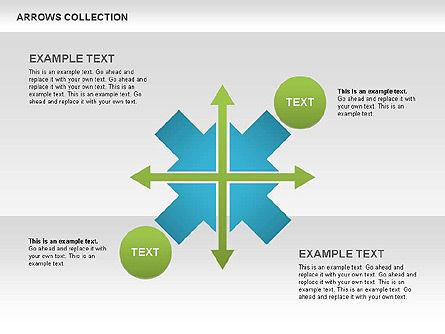 Opposite Arrows Shapes, Slide 6, 00435, Shapes — PoweredTemplate.com