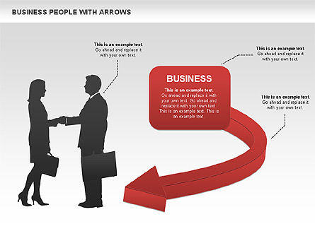 Business Models: Diagrammi silhouettes commerciali #00441