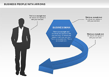 Business Silhouettes Diagrams, Slide 2, 00441, Business Models — PoweredTemplate.com