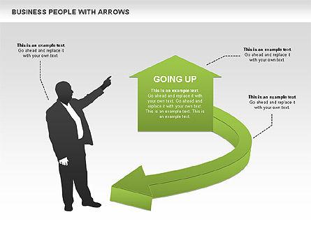 Business Silhouettes Diagrams, Slide 3, 00441, Business Models — PoweredTemplate.com