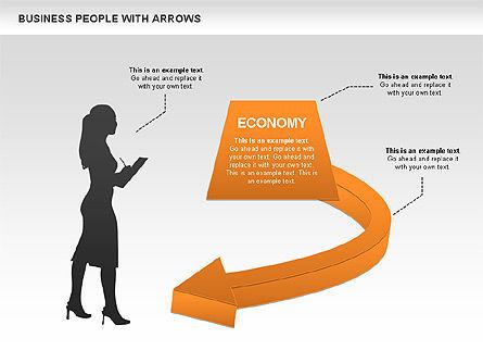 Business Silhouettes Diagrams, Slide 4, 00441, Business Models — PoweredTemplate.com