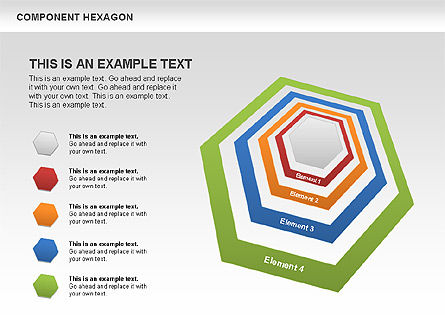 Business Models: Component Hexagon Diagram #00444