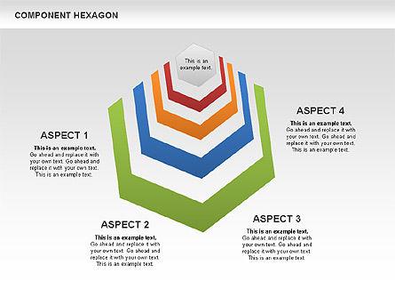 Component Hexagon Diagram, Slide 2, 00444, Business Models — PoweredTemplate.com