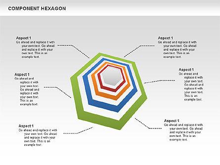 Component Hexagon Diagram, Slide 3, 00444, Business Models — PoweredTemplate.com