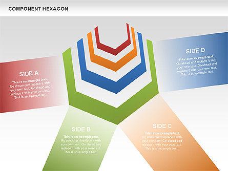 Component Hexagon Diagram, Slide 4, 00444, Business Models — PoweredTemplate.com