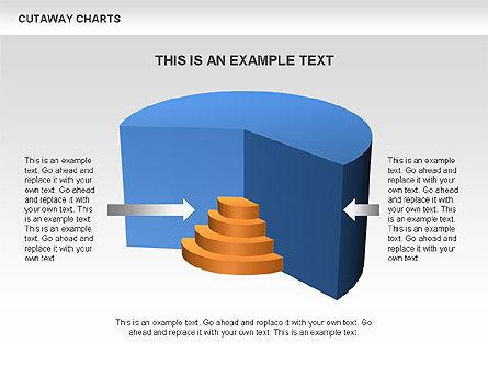 Cutaway Pie Charts, Slide 2, 00446, Business Models — PoweredTemplate.com