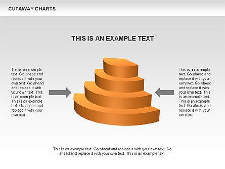 Cutaway Pie Charts, Slide 3, 00446, Business Models — PoweredTemplate.com