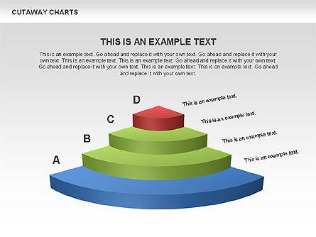 Cutaway Pie Charts, Slide 4, 00446, Business Models — PoweredTemplate.com