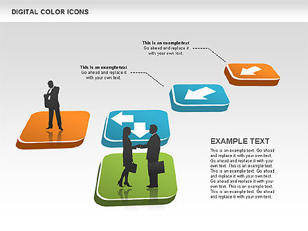 Color Icons Collection, Slide 10, 00448, Silhouettes — PoweredTemplate.com