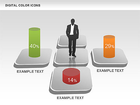 Color Icons Collection, Slide 11, 00448, Silhouettes — PoweredTemplate.com