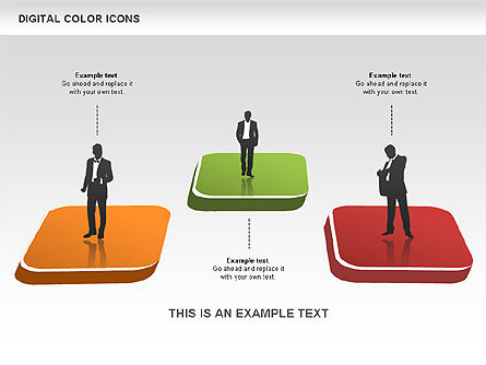 Color Icons Collection, Slide 12, 00448, Silhouettes — PoweredTemplate.com