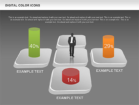 Color Icons Collection, Slide 13, 00448, Silhouettes — PoweredTemplate.com