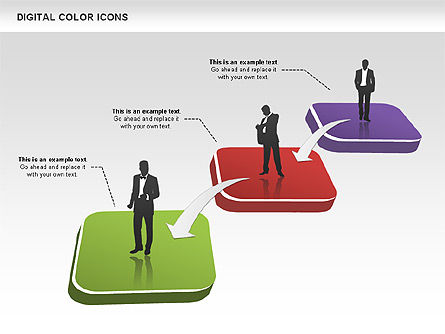 Color Icons Collection, Slide 5, 00448, Silhouettes — PoweredTemplate.com