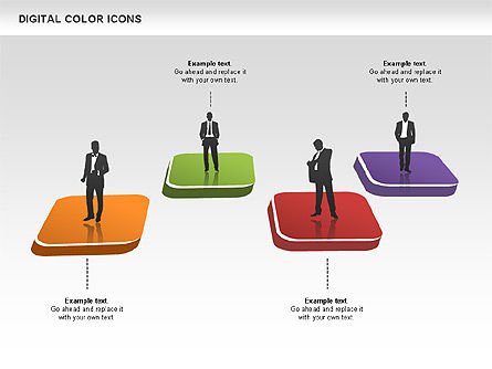 Color Icons Collection, Slide 6, 00448, Silhouettes — PoweredTemplate.com