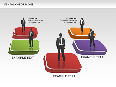Color Icons Collection, Slide 7, 00448, Silhouettes — PoweredTemplate.com