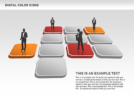 Color Icons Collection, Slide 8, 00448, Silhouettes — PoweredTemplate.com