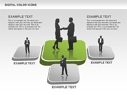 Color Icons Collection, Slide 9, 00448, Silhouettes — PoweredTemplate.com