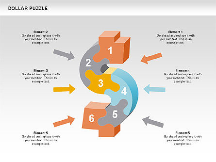 Puzzle Diagrams: Dollar Puzzle Diagrams #00449
