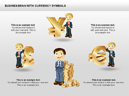 Currency and Businessman Icons, Slide 2, 00453, Icons — PoweredTemplate.com
