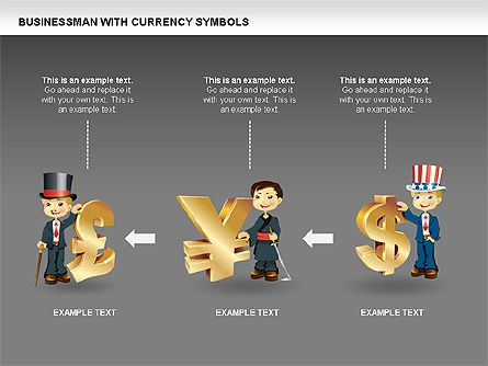 Currency and Businessman Icons, Slide 3, 00453, Icons — PoweredTemplate.com